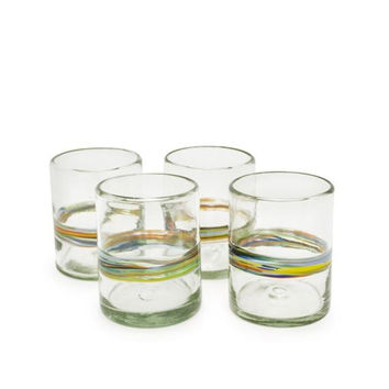 Bambeco Tumbler Glass Recycled Rainbow (12x4 Pk)