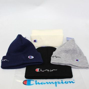 Champion Embrroidery Beanie Unisex Warm Winter High Quality Hat