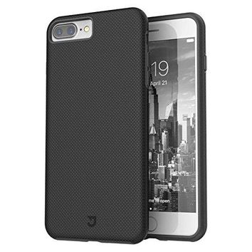 iPhone 7 Plus Case, Rugged Shock Modern Slim Non-slip Grip Cell Phone Cases for Apple iPhone 7/7s Plus (Black)