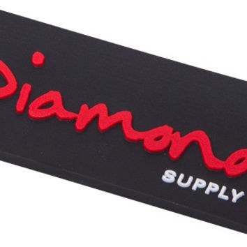 Diamond OG Script Magnet Black/ Red/White