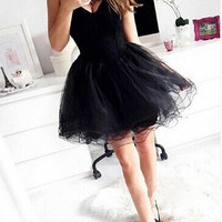 Black Chiffon Strapless Homecoming Dress, Sweetheart Summer Homecoming Dress