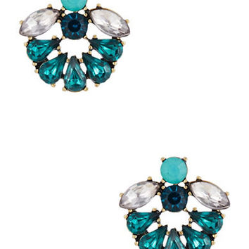 Robert Rose Rhinestone Drop Earrings