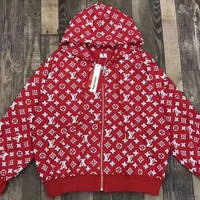 LV More Print clothing Embroidery Loose coat Zipper Jacket