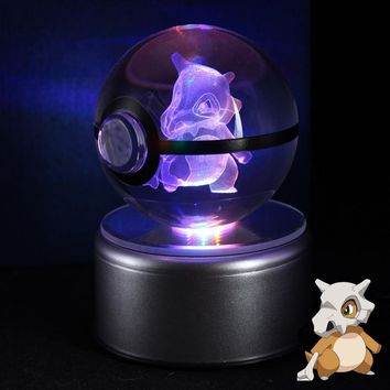 LED Night Light 3D  Go Table Lamp Pokeball Cubone Baby Kids Xmas giftKawaii Pokemon go  AT_89_9