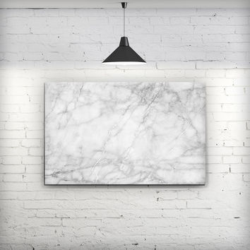 White Scratched Marble - Fine-Art Wall Canvas Prints