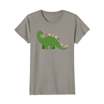 Ice Cream Dinosaur Summer T-shirt for Kids and Adults
