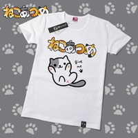 Neko Atsume Cute Kawaii Cat T-Shirt V7