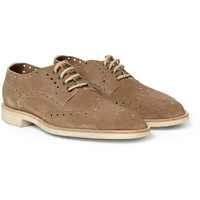 Paul Smith Shoes & Accessories - Lymon Perforated Suede Brogues | MR PORTER