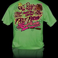 Sweet Thing Funny Fast Pitch Softball Girlie Bright T Shirt