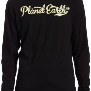 Planet Earth Men's Tavern Long Sleeve Tee,Black,X-Large