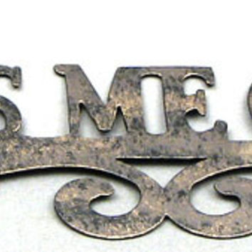 'Always Kiss Me Goodnight' Metal Wall Sign