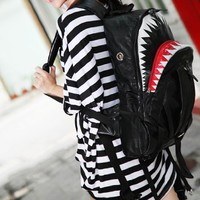 POMELO PU Shark Large Backpack From Pomelo (Orange)
