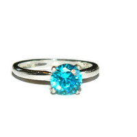 1 Carat Blue Diamond Promise Ring
