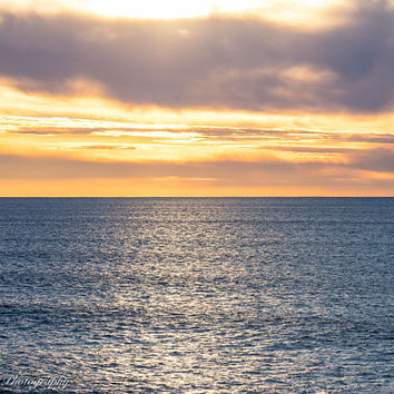 Ocean Sunset Wall Art Print -- Fine Art landscape photography, California, Beach, Home Decor, HeatherRobersonPhoto