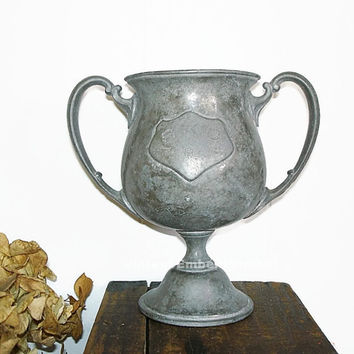 Antique Trophy Loving Cup Trophy, 1914 S.K.C. Trophy Cup, Engraved Loving Cup