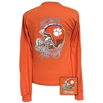 Girlie Girl Preppy South Carolina Clemson Tigers Gameday Long Sleeve T-Shirt