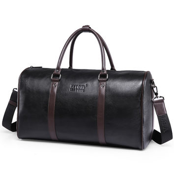 Luxury First Layer of Cowskin men's travel bags Vintage Brand Genuine Leather handbags Big men Business Luggage bag 2017 New