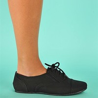 London Oxford Flats - Black at Necessary Clothing