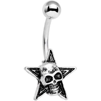Super Star Creepy Halloween Skull Belly Ring