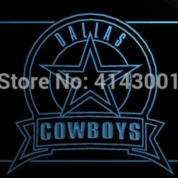 LS888-b- Dallas Cowboys Badge 3D LED Neon Light Sign Customize on Demand 8 colors to choosen