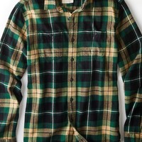 AEO 's Heritage Flannel Shirt (Black)