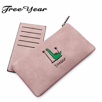 2017 Fashion Women Wallets Female Cards Holders Cartoon Long Wallets Business Handbags Clips Purse Pocket Ladies' Clutches