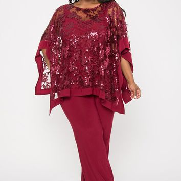R&M Richards Plus Size Mother of the Bride Pant Suit