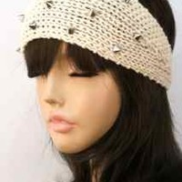 Studded Knit Head Wrap