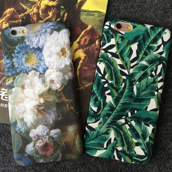 floral leaf iphone 5se 5s 6 6s plus case cover for iphone 7 7plus iphone 6s 6 plus iphone x 8 plus with gift box  number 1