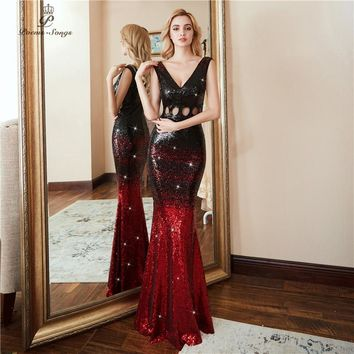 Poems Songs 2018 Hollow Evening Dress prom gowns vestido de fe 5cfdc48cabeb