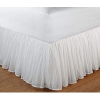 Cotton Voile White Color Twin Bed Skirt By Greenland Home Fashions