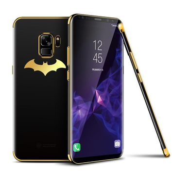 Batman Dark Knight gift Christmas Luxury Plating Soft Phone Case For Samsung Galaxy S7 Edge S8 S8 Plus Coque Transparent Cover For Samsung S9/S9Plus Note 8 Fundas AT_71_6