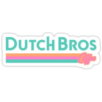 'Dutch Bros Coffee' Sticker by rainbowcatnip