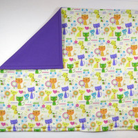 """Colorful Cats Catnip Mat 17"""" x 20"""" - Refillable/Washable"""