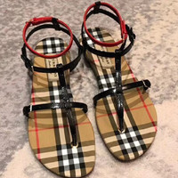 Burberry Comfort and comfort women's flat bottomed sandals
