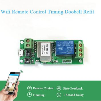 Smart Home Automation Module Itead 5V jog / self-locking Switch phone app Remote Control Timing Wifi Smart Remote Access