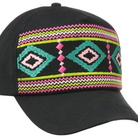 San Diego Hat Women's Aztec Baseball Cap, Navajo Black, One Size:Amazon:Clothing