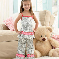 Girls' 2-Pc. Ruffle Pajamas