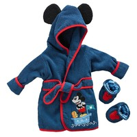 Disney Mickey Mouse Robe & Booties Set - Baby