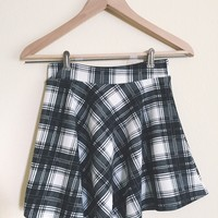 Lindsay Black Plaid Skirt