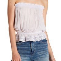 Wild Pearl | Strapless Lace Trim Shirt | Nordstrom Rack