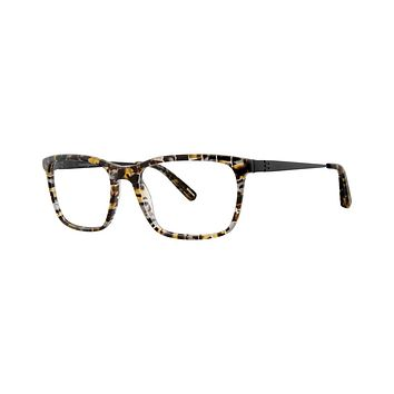Jhane Barnes - Boxplot 55mm Olive Square Eyeglasses / Demo Lenses