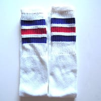 Tube Socks // Striped Blue and Red