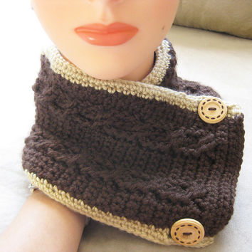 Cable Scarflette - Women's Neckwarmer