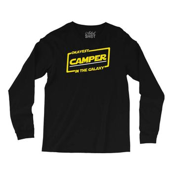 okayest camper in the galaxy funny camping Long Sleeve Shirts
