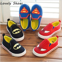 Children Superman Spiderman Batman Shoes 2015 New Girls Boys Christmas / Halloween Shoes Sneakers Size 21-30 = 1927998660