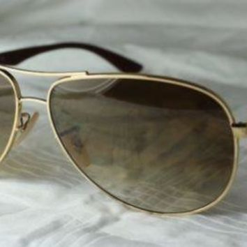 Ray-Ban Sunglasses Carbon Tech RB 8313 001/51 Size 58 +61 NEW Gold - Brown