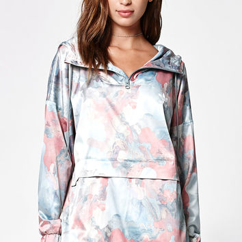 adidas Pastel Camo Satin Hooded Windbreaker at PacSun.com