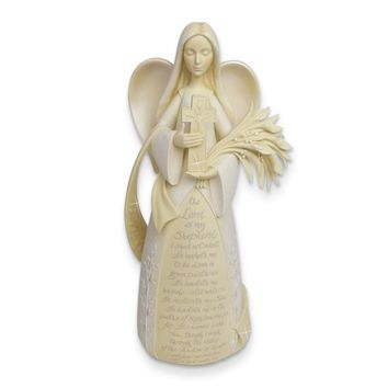 Foundations Psalm 23 Angel Figurine - Perfect Religious Gift