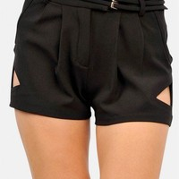 Dressy  Cut Out Shorts  - Diva Hot Couture